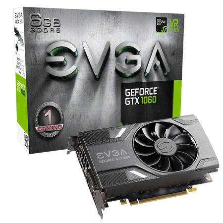 Placa de Video EVGA GeForce GTX 1060 GAMING, 6GB GDDR5 (Single Fan)