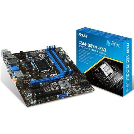 Mother MSI CSM-Q87M-E43 LGA 1150