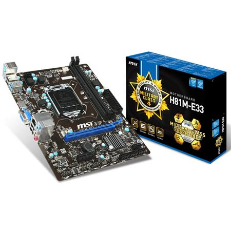 Mother MSI H81M-E33 LGA 1150