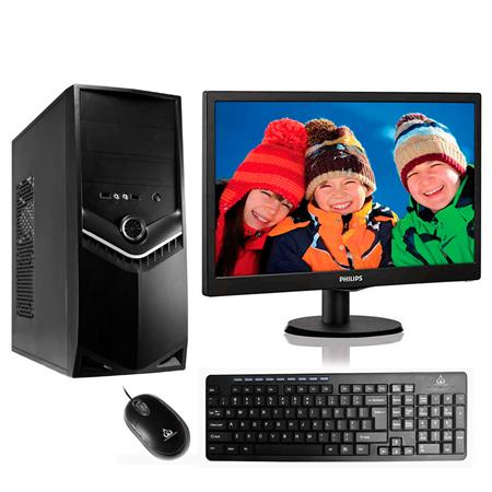 "PC AMD A10 9700 Monitor Philips 18.5"" 193V5LHSB2/55"