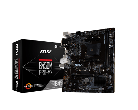 Mother MSI B450M PRO M2 AMD RYZEN 1º/2º GEN